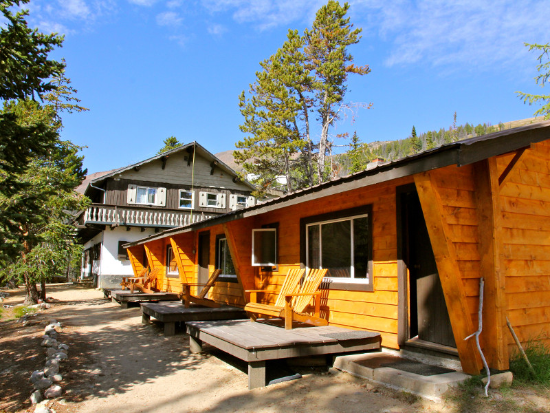lodge and cabin