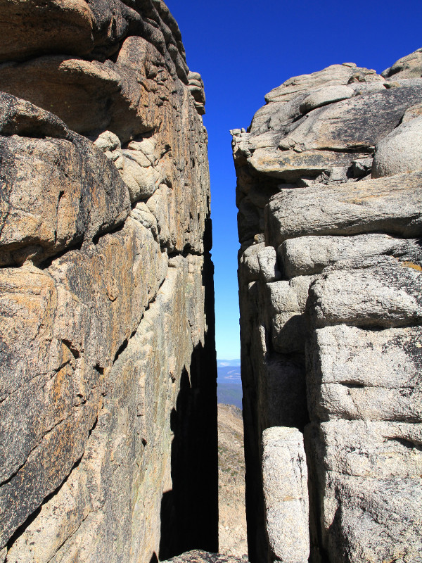 rock pillar crack